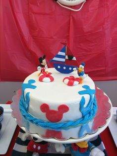 Mickey Mouse Nautical marinero Cake