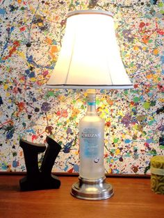 Groovy Green Glass - a glass upcycling company that collects bottles used by restaurants in the Myrtle Beach area. Recycled Bottles, Recycled Glass, Bottle Art, Glass Bottle, Rum Bottle, Wine Bottles, Bottle Lights, Night Lamps, Vase