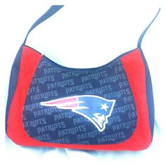 Patriots Purse Red and Blue with Patriots logo. Purse only. If you are interested in the earrings they are $10, just let me know and I will make a listing to include price of earrings. This listing is purse only. Bags
