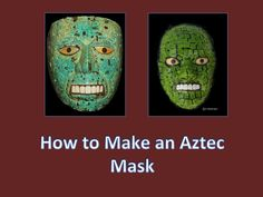 Making an aztec mask with kids is easy and fun. Step by step instructions.