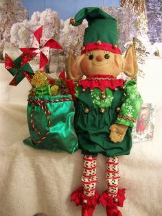 PATTERN, Primitive doll,Christmas, holiday, elf by Dumplinragamuffin #Dumplinragamuffin