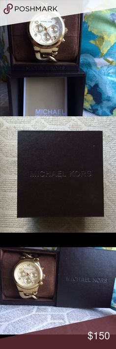 Gold chain-link Michael Kors watch Gold metal detailed watch, great condition Michael Kors Accessories Watches