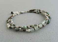 Green Aventurine & African Turquoise Multi Strand by JustynaSart