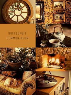 Harry Potter Moodboards - Hufflepuff Common Room