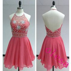 Homecoming Dress Short Pink Homecoming Dress Short Halter Prom Dress Cheap Prom Dress Party Prom Dress Junior Prom Dress