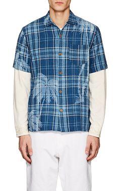 RRL Plaid Cotton-Linen Shirt   Barneys New York