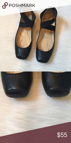 Jessica Simpson Flats Adorable black ballet style flats in excellent used condition (except for inside as shown in pic)! A great shoe to wear with jeans and dresses! Suede/upper leather! Jessica Simpson Shoes