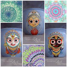 Jagannatha Baladeva Subadra by Lalita Chmura Krishna Painting, Krishna Art, Krishna Images, Madhubani Art, Madhubani Painting, Women's Day Logo, Lord Jagannath, Baby Krishna, Indian Folk Art