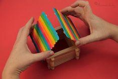 Домик своими руками 7 Craft Stick Crafts, Crafts For Kids, Ice Cream Stick Craft, Triangle, Projects, Reggio, Crafting, Cleaning, Ideas