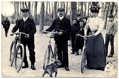 Old Photo - Bicycle People - The Graphics Fairy