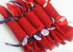 Kid Friendly Fourth of July Favors Made From Recycled TP Rolls via @Taryn {Design, Dining + Diapers}