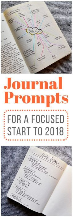 With 2018 right around the corner, it's time to start getting ready for the new year!So, if you're like me and you're looking to get focused before setting goals in the new year, these journal prompts might help you, too.