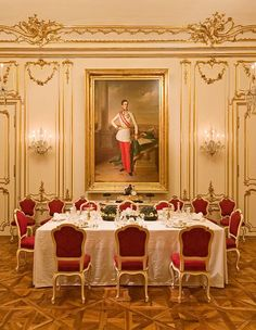 The Marie Antoinette room - the family spent summers at Schönbrunn Palace and winters at the Hofburg Palace in Vienna.