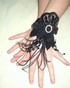 Fantasy black gothic cuff steampunk cuffs steampunk gloves gothic gloves twilight bellydance cuffs bellydance gloves goth lolita cuffs