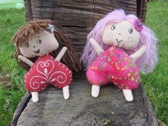 poupées coeur   patron sur blog