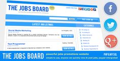 The Jobs Board - Powerful Job Promotions   http://codecanyon.net/item/the-jobs-board-powerful-job-promotions/3415569?ref=damiamio           Imagine having your own job script, where users dont even need to login to list a job. They simply create the listing, make the payment and presto!  The Jobs Board – A Powerful Jobs Promotions Website. Fully automated Jobs Script with Social Buttons & Paypal Intergration. We wanted to build a script, so powerful, simple & easy to use,  that requires no…