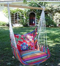 Swing Seat with Tote Swing Seat, Porch Swing, Outside Living, Outdoor Living, Hammock Chair, Hanging Chair, Outdoor Spaces, Outdoor Decor, Patio Plants