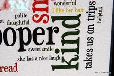Full of Great Ideas: Teacher's Gift - Wordle with students thoughts