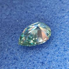 1.00 to 5.00 Ct Blue Color Pear Cut Loose Moissanite VVS1/2 | Etsy