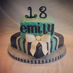 my latest cake!! 18th birthday fondant cake