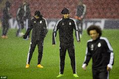 Ronaldo and his Real Madrid team-mates trained at Anfield ahead of Wednesday's clash with ...