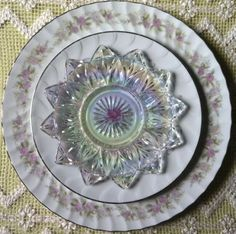 Beautiful with vintage glass dessert plate! - Southern Vintage Table