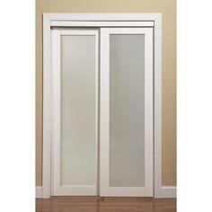 Exceptional Shop ReliaBilt 1 Lite Frosted Sliding Closet Interior Door (Common: 72 In