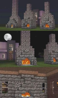 Minecraft Castle Blueprints, Villa Minecraft, Architecture Minecraft, Casa Medieval Minecraft, Minecraft Building Guide, Minecraft Structures, Minecraft Plans, Minecraft Tutorial, Minecraft Buildings