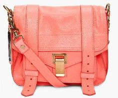 Coral messenger bag want it!