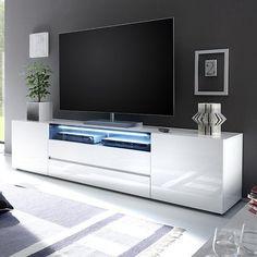 Vicenza 203 lowboard tv stand white tv unit modern tv units and pertainin. White Gloss Tv Unit, White Tv Unit, Large Tv Cabinet, White Tv Cabinet, Tv Stand Decor, Tv Decor, White Tv Stands, Modern Tv Stands, Black And White Tv Stand
