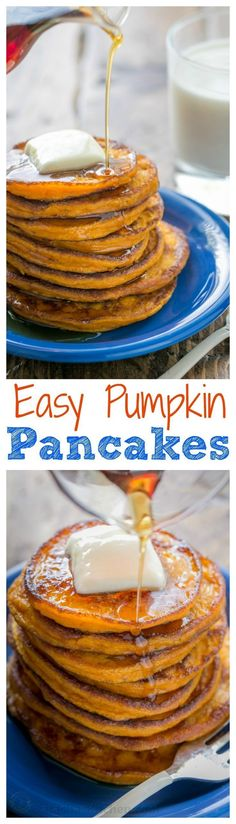These pumpkin pancakes taste like pumpkin pie in pancake form. They're wonderfully smooth in the center. Creamy, dreamy, delicious!   http://natashaskitchen.com