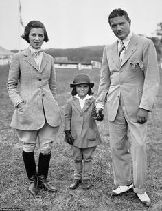 John Bouvier stands with his wife, Janet, and daughter the Sixth Annual Horse Show of the Southampton Riding and Hunt Club on Long Island.