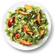 Kraft Anything Dressing : Grilled Peach Salad with Blue Cheese Dressing