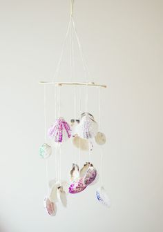 Seashell wind chime (now I know how to use my beach glass)