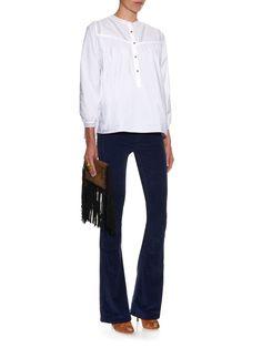 Marrakesh mid-rise kick-flare velvet trousers | MiH Jeans | MATCHESFASHION.COM UK