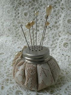 Todolwen: pincushion - Salt Shaker Top