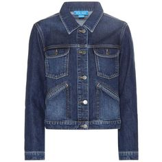 M.i.h Jeans Stockholm Denim Jacket (7.600 RUB) ❤ liked on Polyvore featuring outerwear, jackets, denim, blue, denim trousers, blue jean jacket, jean jacket, blue jackets, blue denim jacket and denim jacket