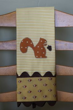Squirrel Dish Towel Tutorial