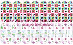 Peace & Love nail art Non Toxic Nail wrap to order or find out more email amberjmartell@gmail.com