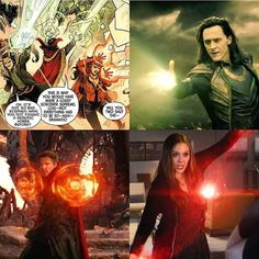 I'm mad that we will never see this!  #Marvel #MCU #AvengersInfinityWar #lol #cool #DoctorStrange #ScarletWitch #awesome #Loki #beautiful…