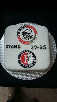 Ajax- Feyenoord verjaardagstaart