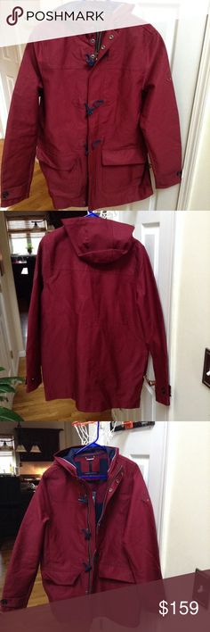 🌦Tommy Hilfiger Men's Raincoat🌦 🌧Men's Tommy Hilfiger Burgundy Raincoat☔️Slick Waterproof☔Stylish rain protective gear☔️Reasonable offers welcomed! Tommy Hilfiger Jackets & Coats Raincoats