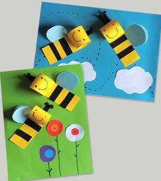 Bee Crafts For Kids, Summer Crafts, Diy For Kids, Fun Crafts, Diy And Crafts, Arts And Crafts, Paper Crafts, Craft Activities, Preschool Crafts