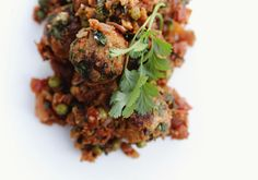 Vegetarian tapas recipe is adapted from a simple recipe for traditional Albondigas (Spanish Meatballs) Vegetarian Tapas, Vegetarian Freezer Meals, Vegetarian Recipes, Healthy Recipes, Vegetarian Meatballs, Tapas Recipes, Veggie Recipes, Shrimp Recipes, Cheese Recipes