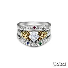 """For Robert and Jeannette's wedding, master jeweler Takayas Mizuno has created a set of Legend of Zelda-themed rings inspired by the """"Gate of Time"""" from """"TLOZ:"""