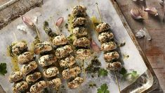 Are you looking for an idea for an interesting grilled dish? Grilled mushrooms in garlic salt . - Are you looking for an idea for an interesting grilled dish? Grilled mushrooms in garlic salt will - Grilled Mushrooms, Stuffed Mushrooms, Garlic Salt, Lidl, Sprouts, Grilling, Healthy Recipes, Healthy Food, Herbs