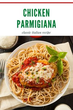 This Chicken Parmigiana recipe is so juicy! The chicken is moist inside, and crispy on the outside! It's covered in tomato sauce, melted provolone, Parmesan cheese and Italian spices. Your family will LOVE this delicious Italian classic! Pasta Side Dishes, Dinner Dishes, Pork Dishes, Main Dishes, Easy Pasta Recipes, Delicious Dinner Recipes, Chicken Recipes, Best Comfort Food, Comfort Foods