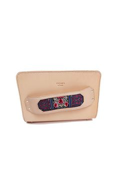 Nude two-in-one style clutch/satchel with handcrafted embroidery from Dali region.  Shop it now on: Dreamscode.co.uk
