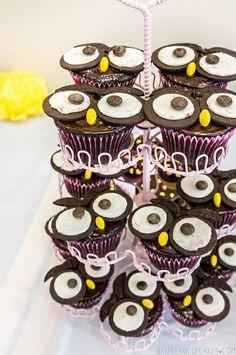 Owl Cupcakes by raspberri cupcakes, via Flickr #cupcakes #cupcakeideas #cupcakerecipes #food #yummy #sweet #delicious #cupcake