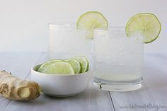 ginger lime spritzers. Supposedly great for nausea and morning sickness. Good to keep in mind.